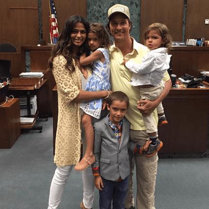 Matthew McConaughey and Camila Alves Citizenship Picture