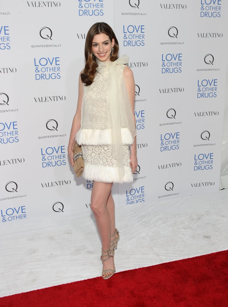 Femme and a little flouncy at the Love & Other Drugs NY screening in 2010.