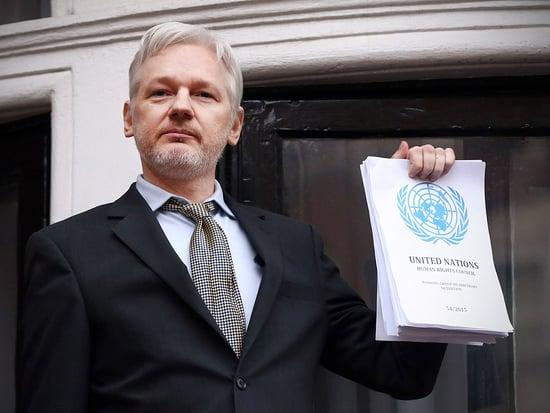 'How Sweet It Is!': Wikileaks Founder Julian Assange Makes First Public Appearance in Three Years
