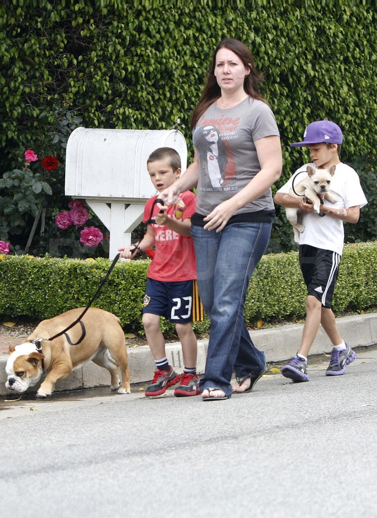 David Beckham and His Boys Kick Off Summer on the Field and With Their Pups