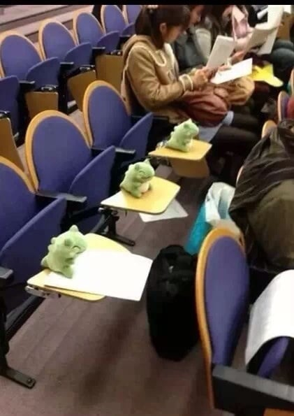"""""""How to get out of class."""" Source: Reddit user OppaWumboStyle via Imgur"""