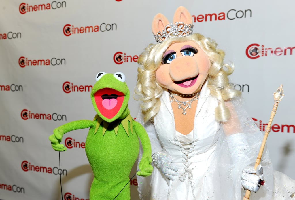 Kermit the Frog and Miss Piggy made an appearance at CinemaCon in Las Vegas.