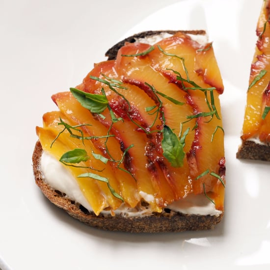 Roasted Peach Bruschetta Recipe
