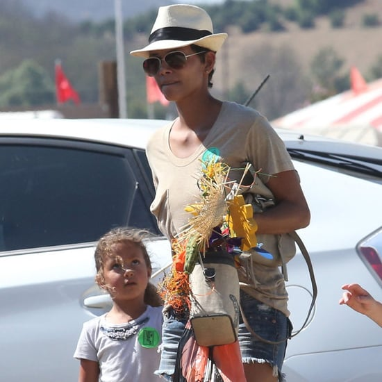 Halle Berry With Nahla at the Pumpkin Patch in LA