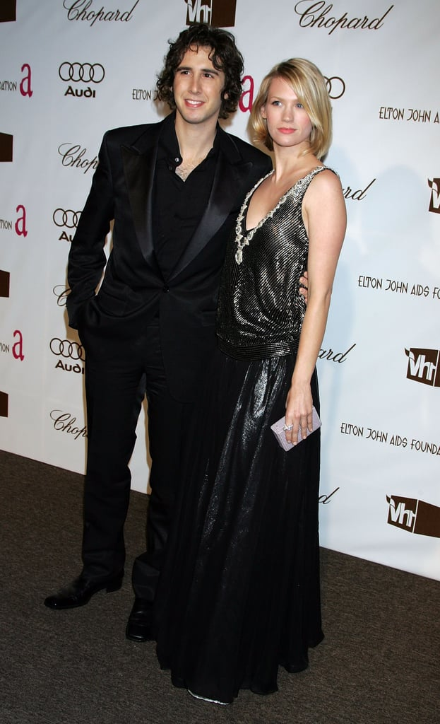 Josh Groban and January Jones