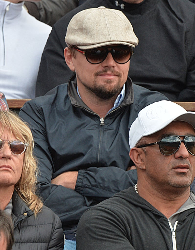 Leonardo DiCaprio watched the French Open in Paris on June 2.