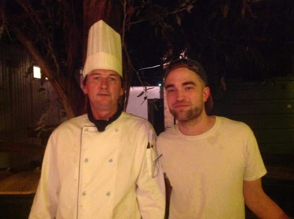 Robert Pattinson celebrated at the wrap party for The Rover.