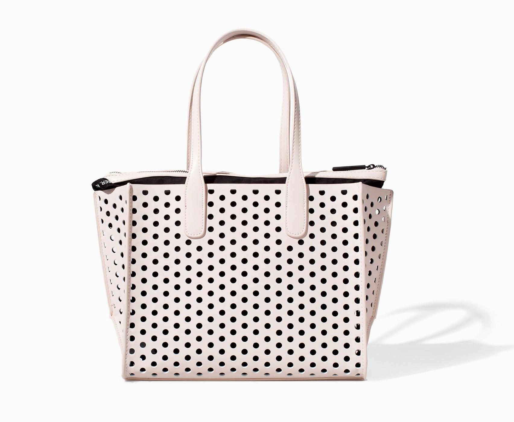 Zara perforated shopper ($60)