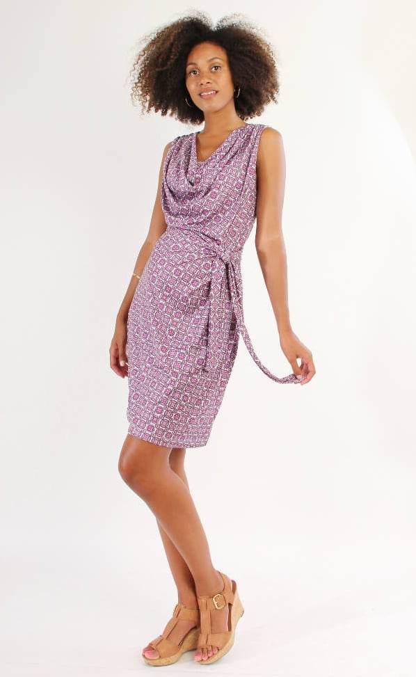 Japanese Weekend Nursing Drape Dress