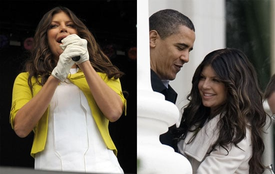 Photos of Fergie Performing at the White House's Easter Egg Roll With President Obama