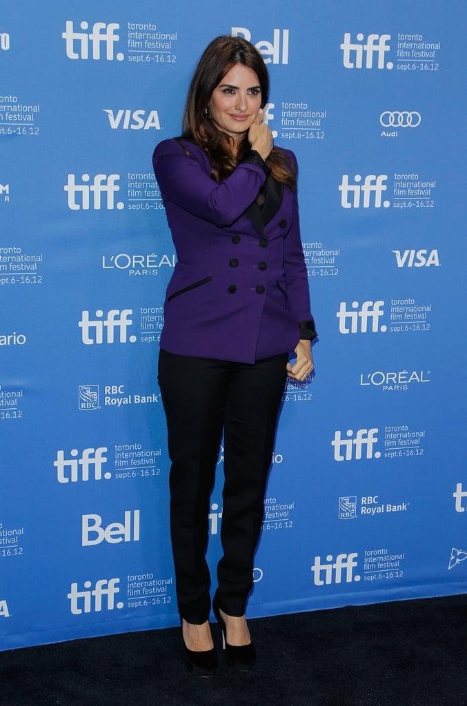 Penelope Cruz Goes Bold in Purple at TIFF