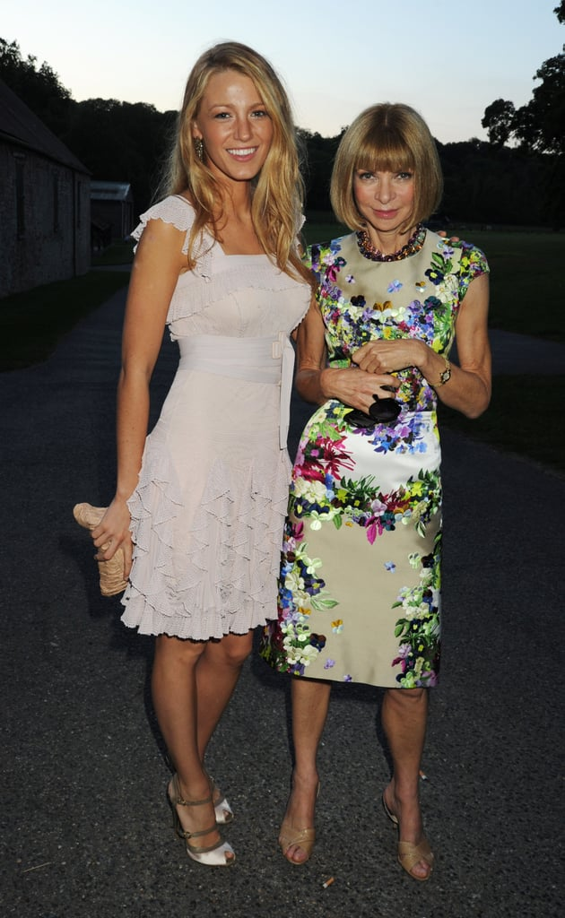 Blake Lively and Anna Wintour. Hmmm do you smell another US Vogue cover?