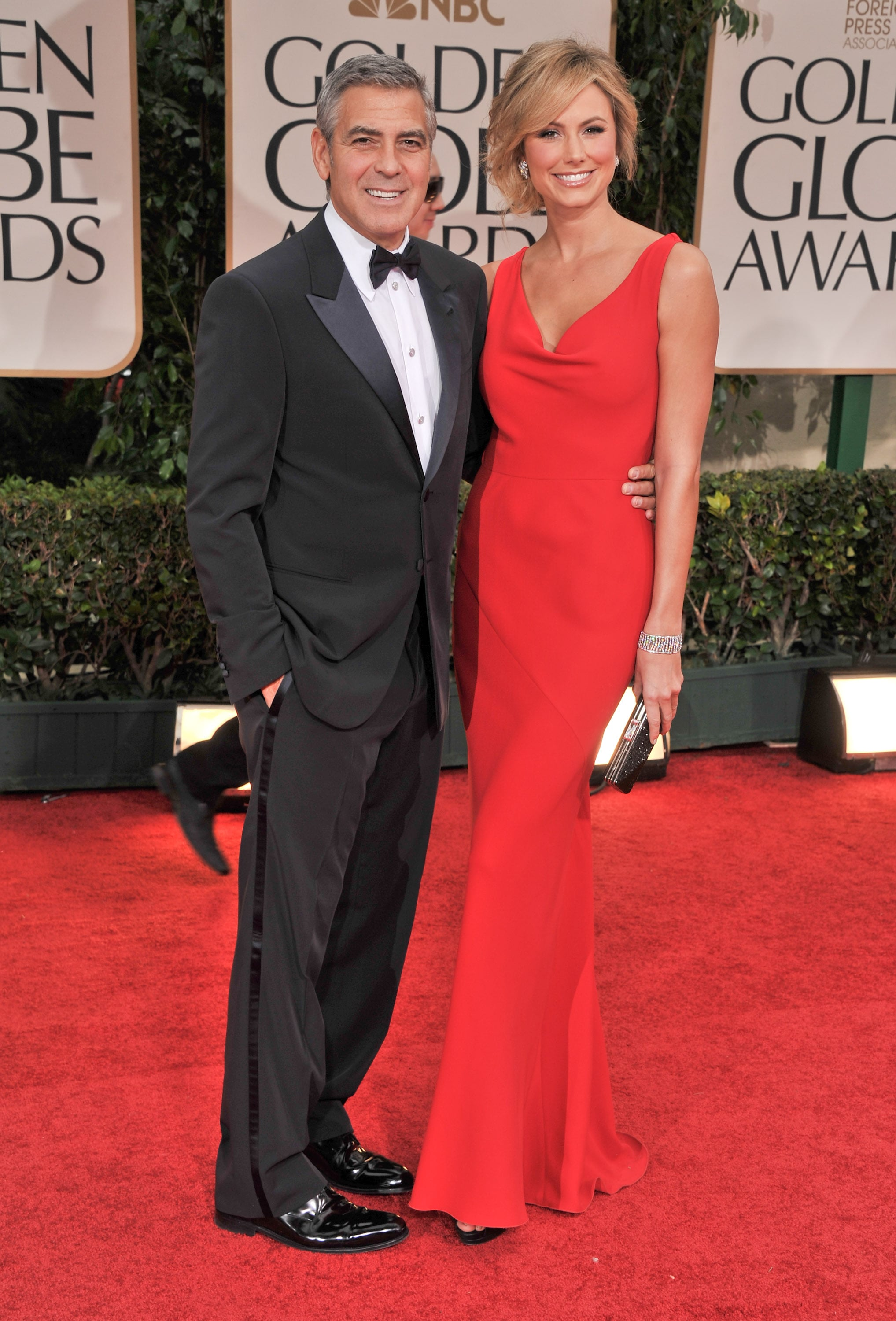George Clooney escorted Stacy Keibler down the carpet in 2012.