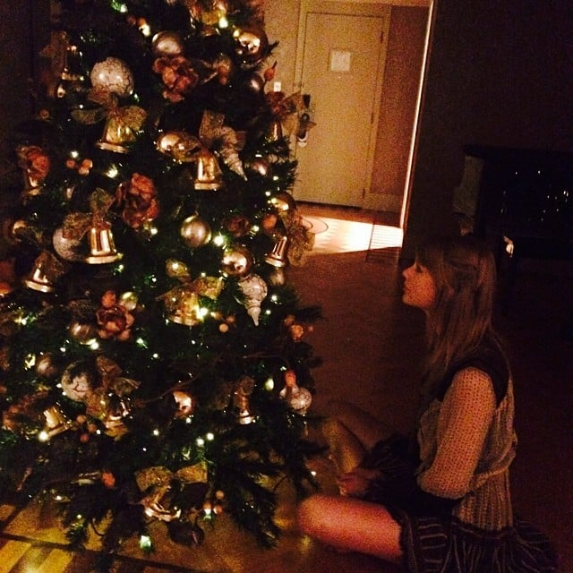 Taylor Swift admired the Christmas tree in her hotel room in Australia. Source: Instagram user taylorswift