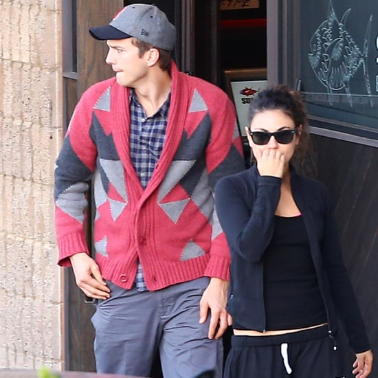 Ashton Kutcher and Mila Kunis on a Sushi Date Pictures