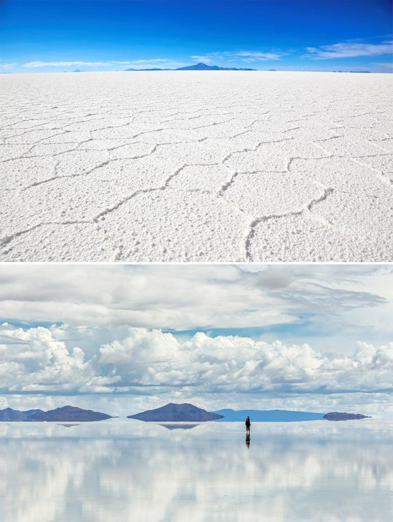 Literally Reflect at Salar de Uyuni in Bolivia