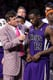 Craig Sager in a Pink and Purple Plaid Suit