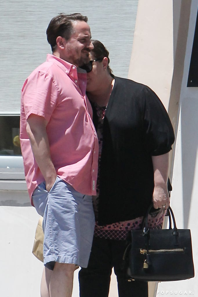Melissa McCarthy shared a sweet moment with her husband Ben Falcone in LA on Thursday.