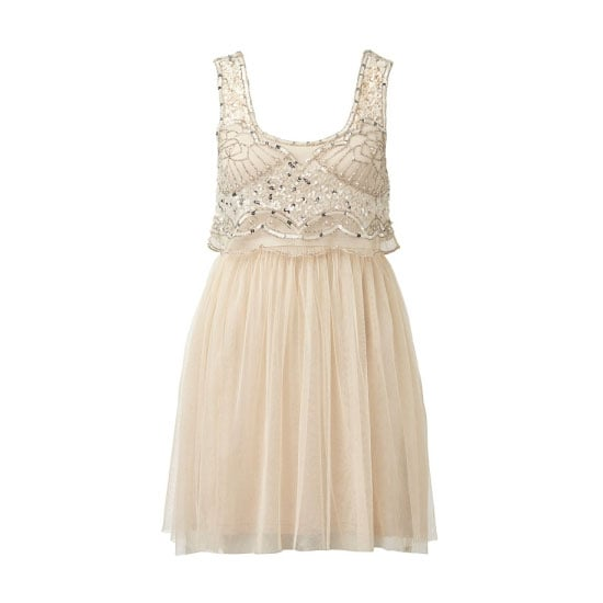 How femme! An embellished bodice will add sparkle to your party season style. Maya Mesh Embellished Dress, $99.99, Forever New