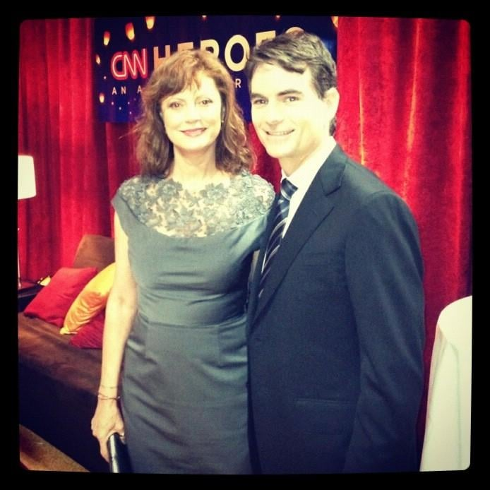 Jeff Gordon was a bit starstruck while meeting Susan Sarandon at the CNN Heroes event. Source: Twitter user JeffGordonWeb