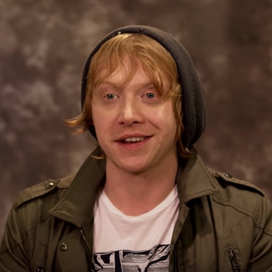 rupert grint rupert grint s reaction to getting sorted into hufflepuff ... Rupert Grint