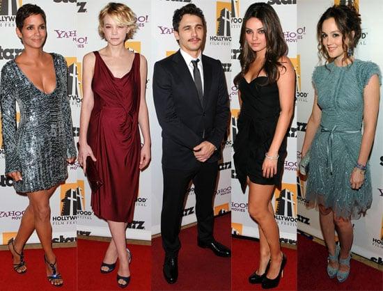 Pictures of James Franco, Justin Timberlake, Jesse Eisenberg, Halle Berry, Carey Mulligan at the Hollywood Awards