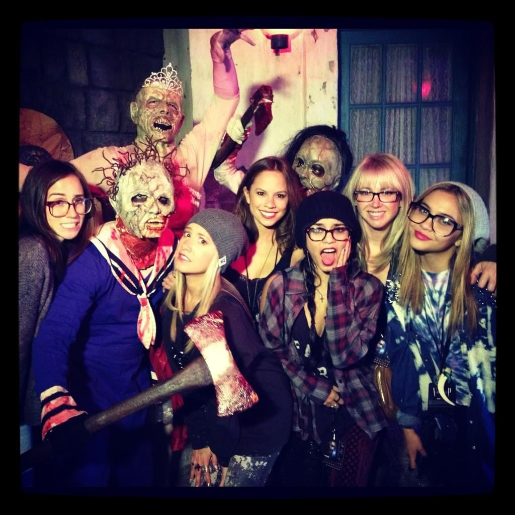 Ashley Tisdale and her friends gathered for Halloween.  Source: Twitter user kimhidalgo