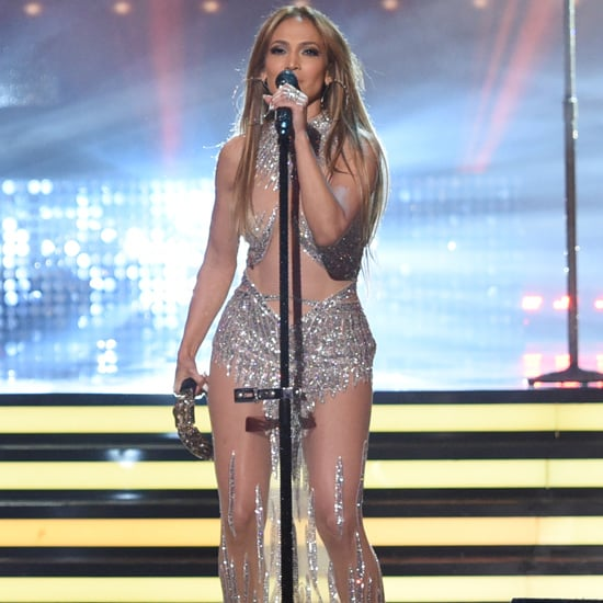 J Lo Couldn't Show Up to the American Idol Finale Without Wearing a Naked Dress