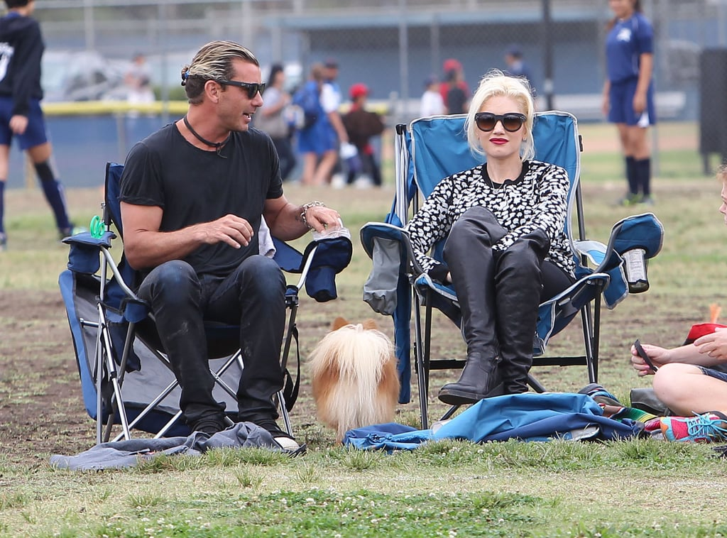 In September 2013, Gavin and Gwen went on soccer-parents duty to watch their sons play a game in LA.