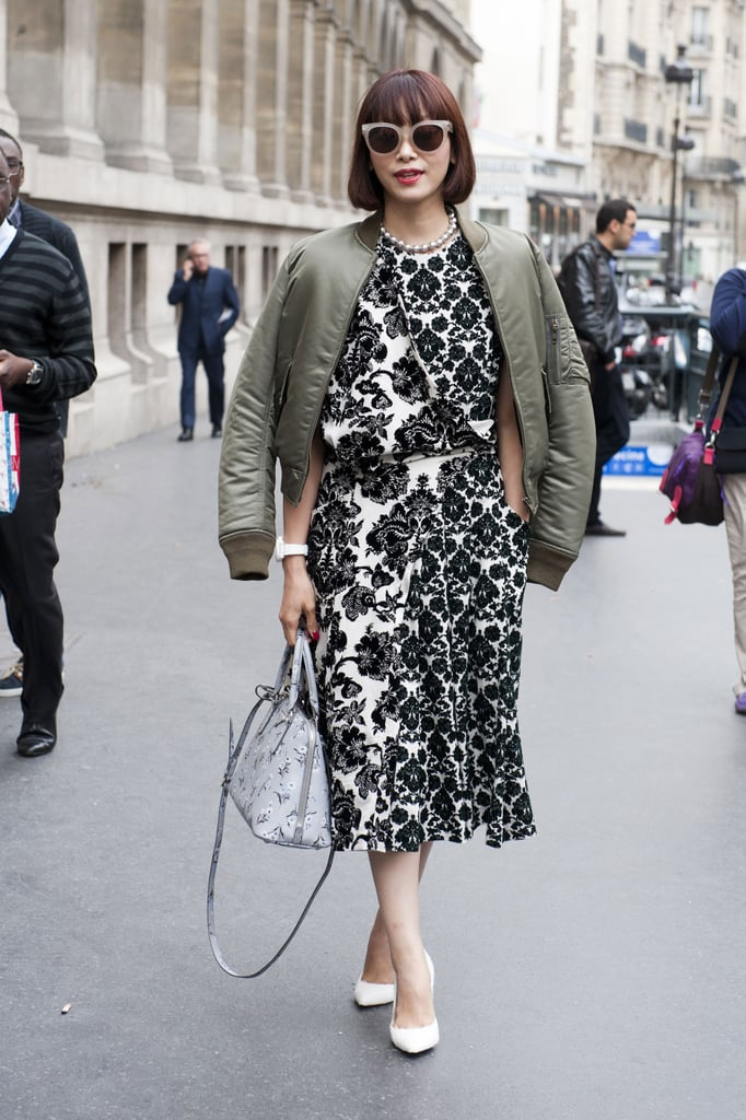 Floral dresses were made for wearing with bomber jackets, didn't you know?