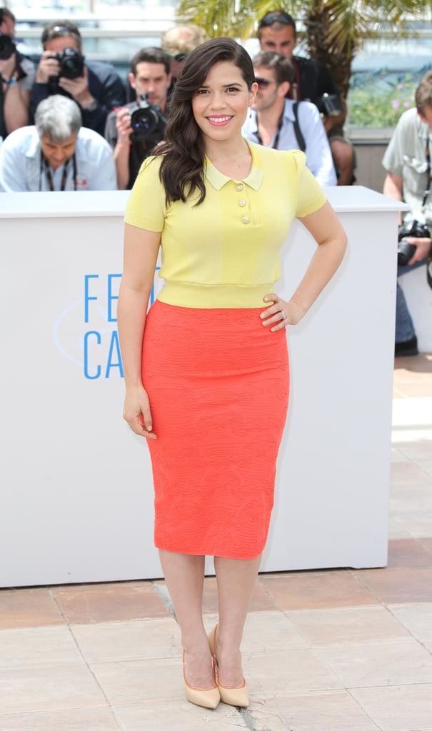 America Ferrera at the How to Train Your Dragon 2 Photocall