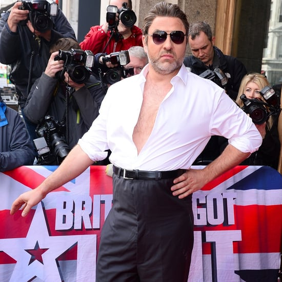 David Walliams Dressed as Simon Cowell