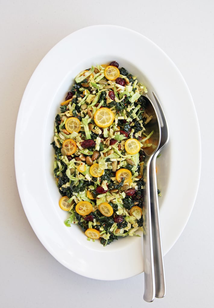 Kumquat, Brussels Sprouts, and Kale Salad