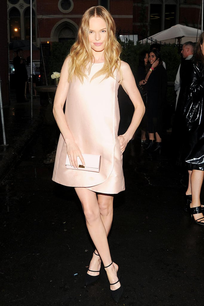 Kate Bosworth looked sweet in a petal-pink sheath at the Stella McCartney presentation in NYC.  Source: BFAnyc.comBilly Farrell/BFANYC.com