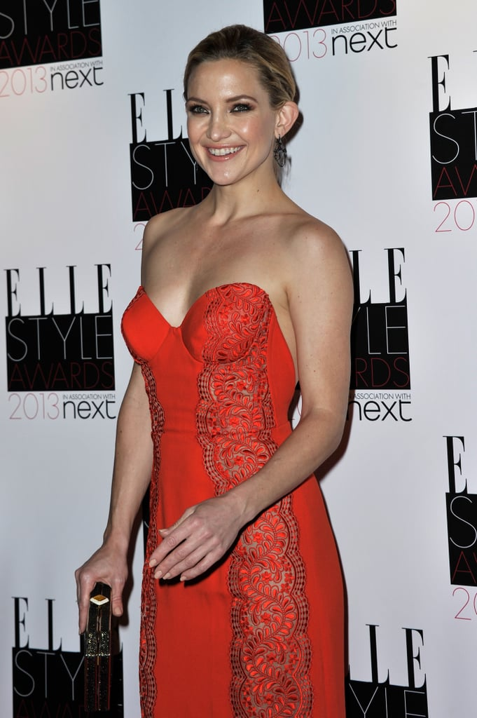 Kate Hudson wore a red Stella McCartney dress to the Elle Style Awards.