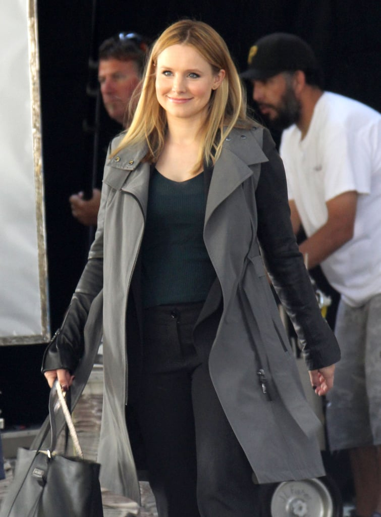 Kristen Bell continued working on the set of the Veronica Mars movie in LA on Wednesday.