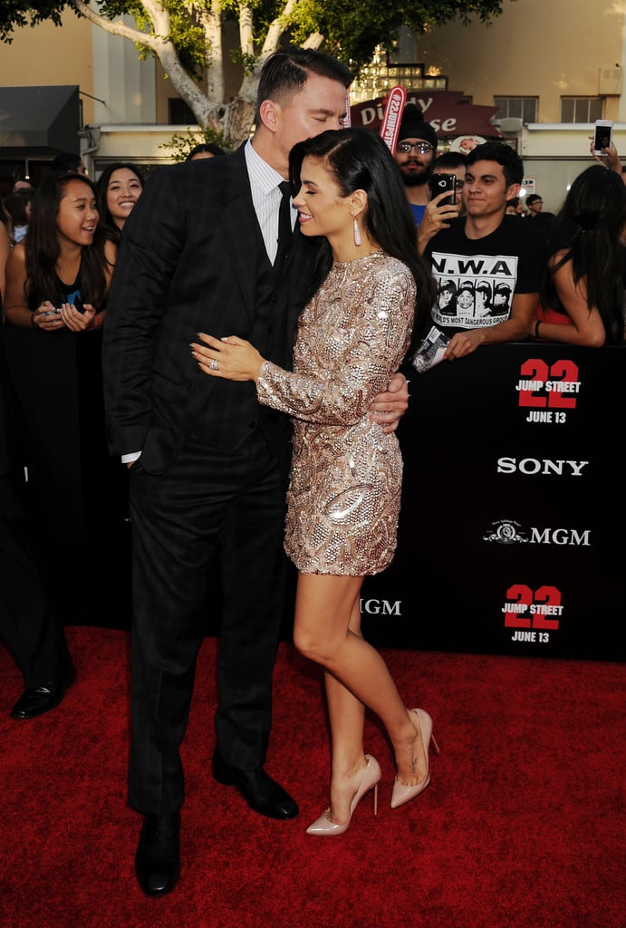 Channing planted a kiss on Jenna's head at the LA premiere of 22 Jump Street in June 2014.