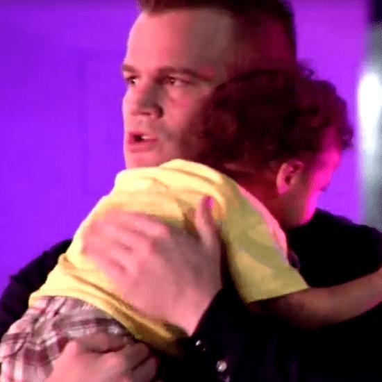 Cop Comforts Baby Abandoned at Crash Scene