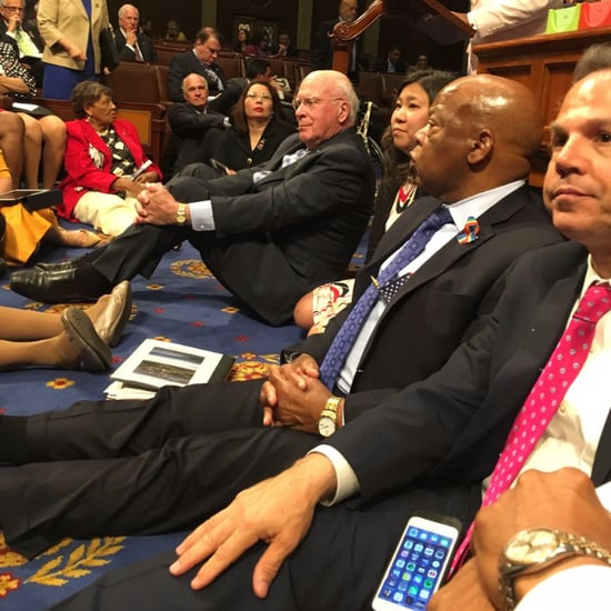 Democrats Stage a Sit-In For Gun Control