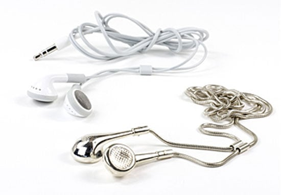 Sterling silver iPod earbuds pendant ($495)