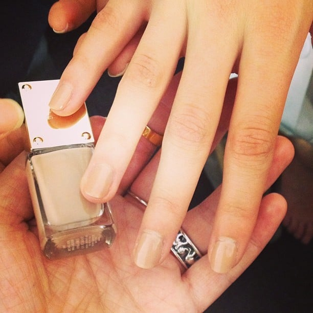 Models wore this neutral-toned Michael Kors polish at the designer's NYFW show.