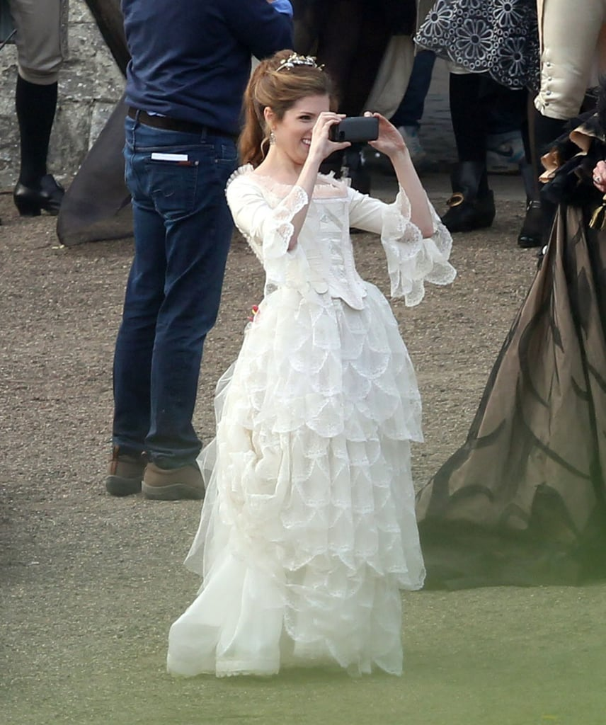 Anna Kendrick snapped photos on her cell phone.