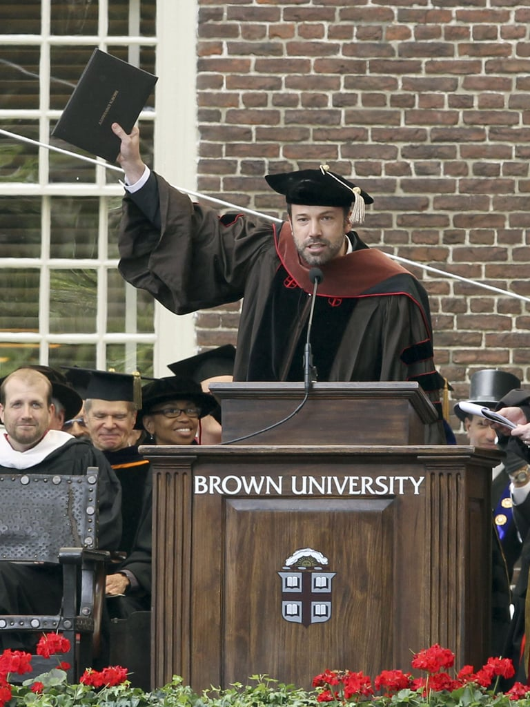 Ben Affleck received a doctorate degree from Brown University.