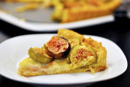 Fig Tart With Orange Blossom Custard