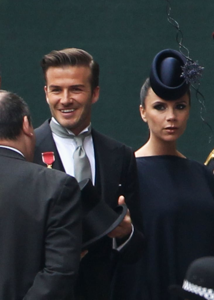 While not technically royal, David Beckham and Victoria Beckham are Britain's unofficial royal couple. At Prince William and Kate Middleton's wedding, Victoria Beckham stunned in a Philip Treacy hat that could easily be a piece of art.