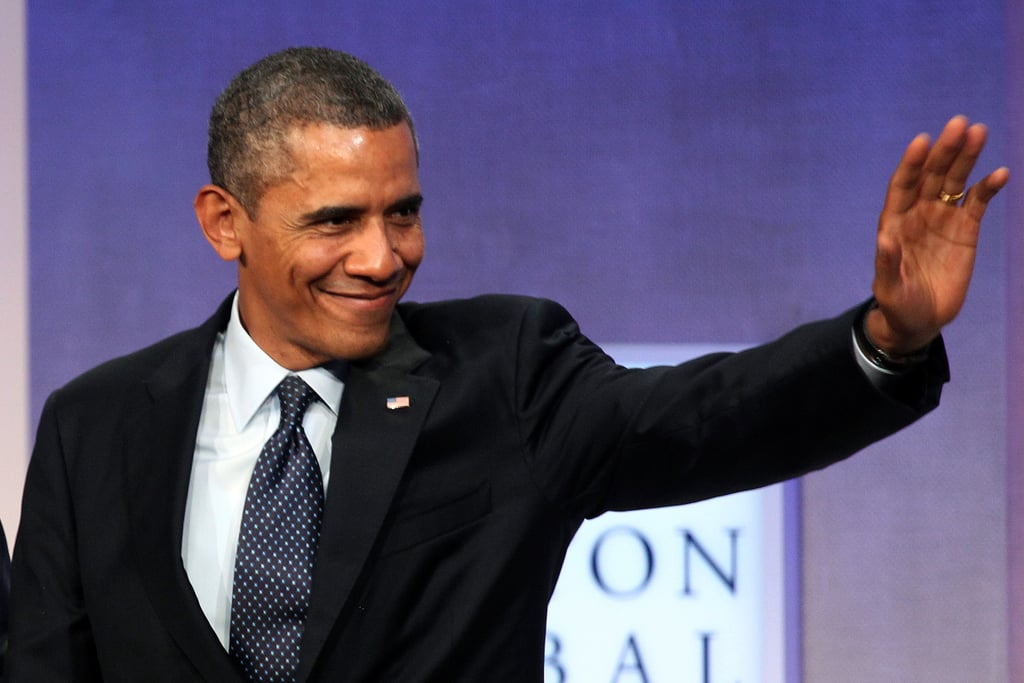 """President Obama stopped by to tout Obamacare on Tuesday. Obama said, """"Just go to HealthCare.gov and make your own decision."""" He continued: """"What we are confident of is that when people look and see they can get quality health care for less than their cellphone bill, they will sign up."""""""