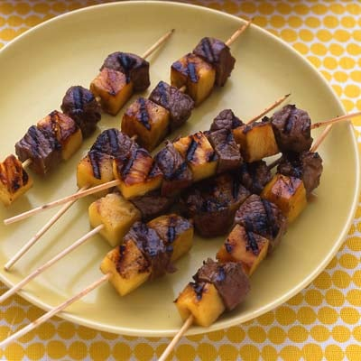 Fast & Easy Recipe For Pineapple Steak Kebabs
