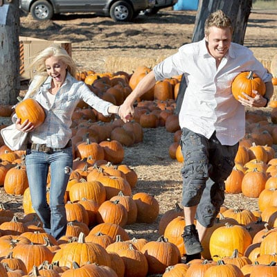 Heidi Montag and Spencer Pratt in a Pumpkin Patch