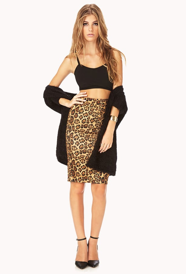 Luna is the most beautiful stretchy leopard skirt we have ever seen! The fabric is super stretchy and has a slight shine. 96% Polyester, 4% Spandex Hand wash cold Do Not Bleach Hang dry Cool iron Mad.