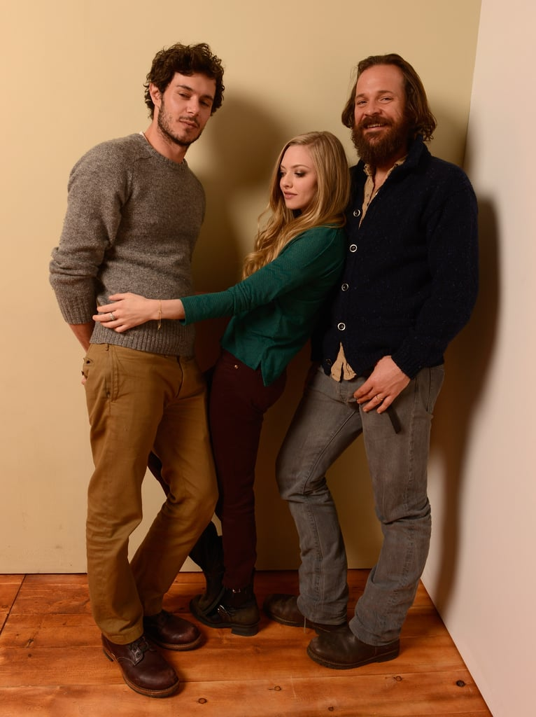 Lovelace's Amanda Seyfried was caught in the middle of co-stars Adam Brody and Peter Sarsgaard.